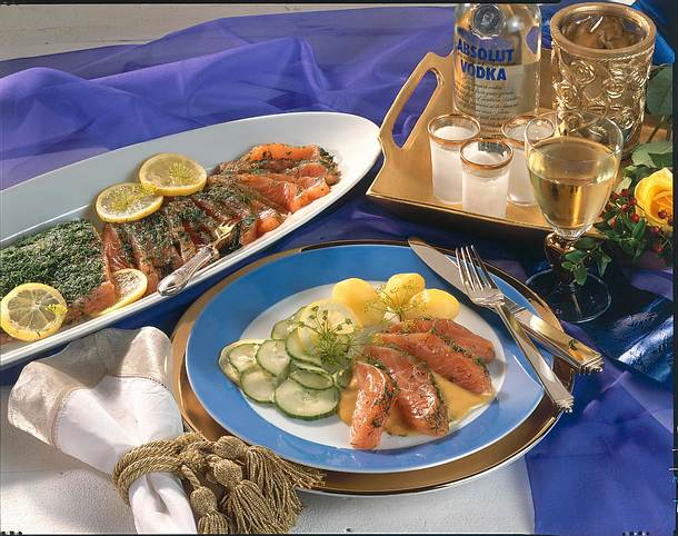 graved lachs mit honig senf sauce rezept lecker. Black Bedroom Furniture Sets. Home Design Ideas
