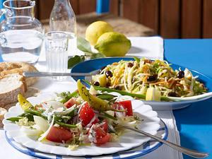 Griechischer Bohnen-Salat Rezept