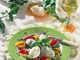 Grieß-Gnocchi mit buntem Paprika-Gemüse Rezept