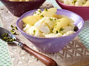 Grießbrei mit karamellisierten Birnen Rezept