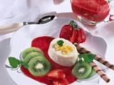 Grießflammeri mit Erdbeersoße und Kiwi Rezept