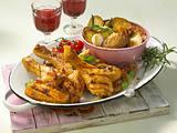 Grilled Chicken mit Rosmarin-Kartoffeln Rezept