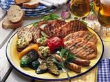 Grillteller mit Gemüse Rezept
