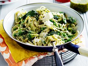 Grüne Spaghetti Rezept