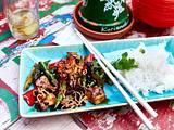 Grüner Spargel mit Tofu aus dem Wok Rezept