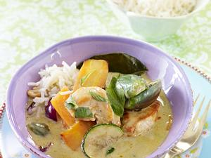 Grünes Curry mit Huhn Rezept