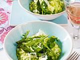 Grünes Risotto mit Spargel und Rauke Rezept