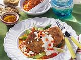 Grünkern-Bratlinge in roter Currysoße Rezept