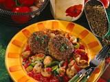 Grünkernfrikadellen mit Tomaten-Pilzgemüse Rezept