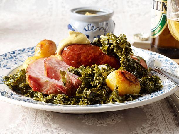 Grünkohl mit Kochwurst und Kasseler Rezept