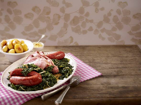 Grünkohl-Platte mit Kasseler Rezept
