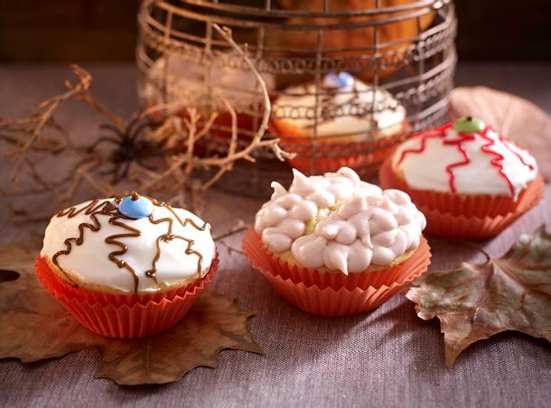 Gruselige Augen- und Gehirn-Muffins Rezept