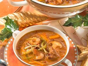 Gulasch-Rahmsuppe mit Shiitake Rezept