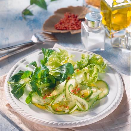 Gurken-Blattsalat Rezept