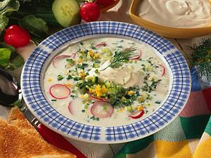 Gurken-Buttermilch-Kaltschale Rezept