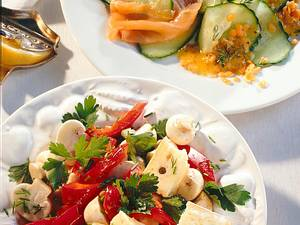 Gurken-Lachs-Salat mit Senf-Marinade Rezept