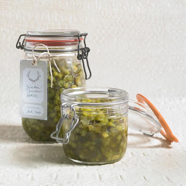 Gurken-Zucchini-Relish Rezept