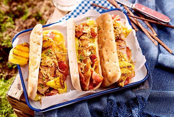 Hähnchen-Hotdogs Rezept-F8565601