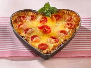 Hack-Lasagne in Herzform Rezept