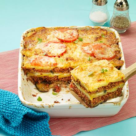 Hack-Moussaka Rezept
