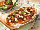 Hack-Schafskäse Pizza Rezept