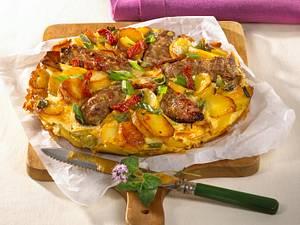 Hack-Tortilla mit Tomatensalsa Rezept