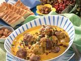Hackbällchen in Curry-Sahne-Soße Rezept