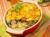 Hackbällchen-Kartoffel-Auflauf Rezept