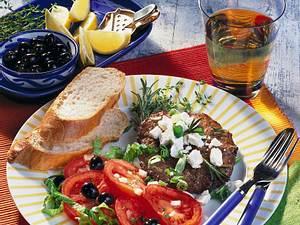 Hacksteak griechische Art Rezept