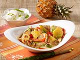 Hähnchen-Ananas-Curry aus dem Wok Rezept
