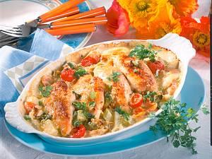 Hähnchen-Gemüseauflauf Rezept