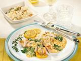 Hähnchen in Zitronen-Spinat-Soße Rezept
