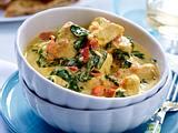 Hähnchen-Kokos-Curry mit Spinat Rezept