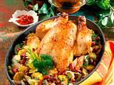 Hähnchen mit Bohnengemüse Rezept