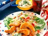 Hähnchen-Nuggets zu Tomatenreis Rezept