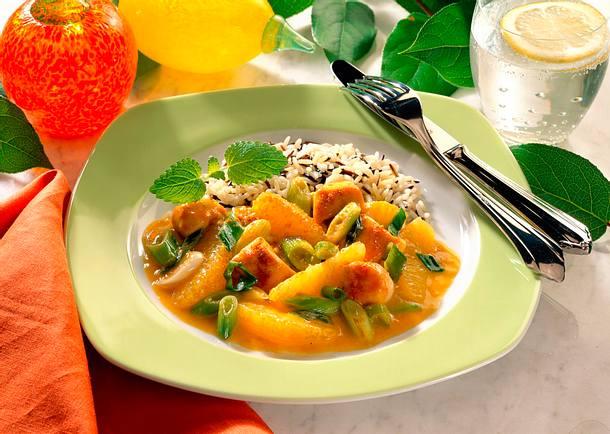 Hähnchen-Orangen-Gulasch Rezept