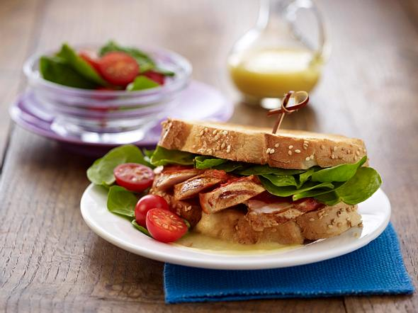 Hähnchen-Sandwiches mit Mozzarella Rezept