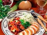 Hähnchenbrust mit rote Bohnen-Porree-Gemüse Rezept