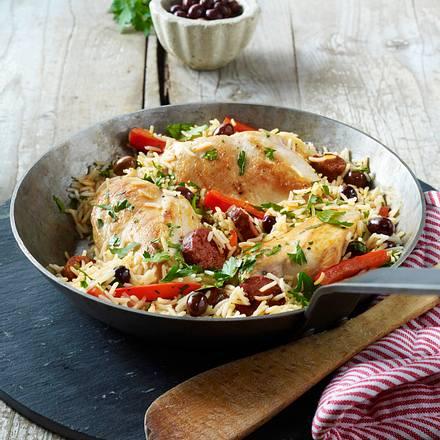 Hähnchenfilet mit Chorizo-Reis Rezept