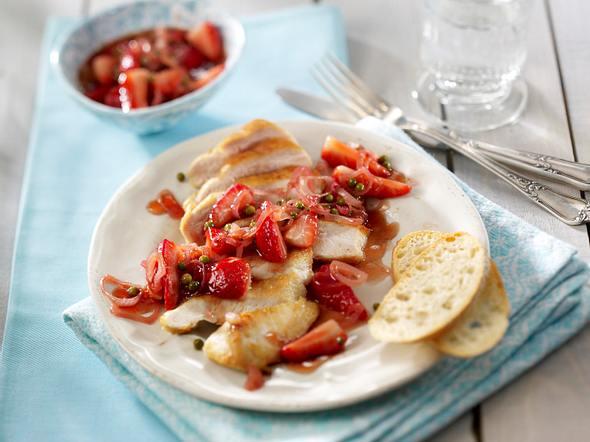 Hähnchenfilet mit Erdbeer-Chutney Rezept