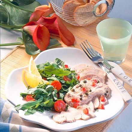 Hähnchenfilet mit Thunfisch-Soße Rezept