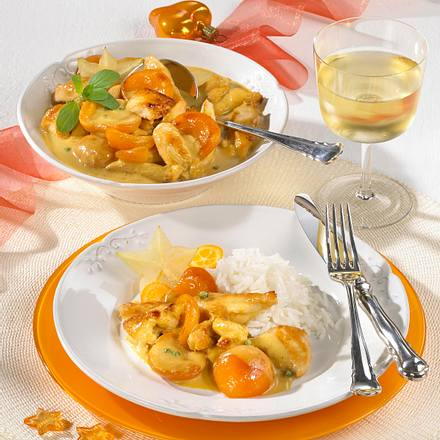 Hähnchengeschnetzeltes mit Aprikosen Rezept