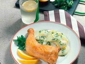 Hähnchenkeulen mit Kohlrabigemüse Rezept