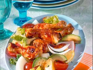 Hähnchensalat mit Avocado Rezept