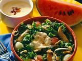 Hähnchensalat mit Melone Rezept