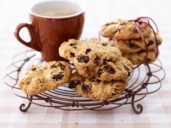 Haferflocken-Rosinen-Cookies Rezept