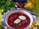 Heidelbeer-Himbeer-Kaltschale Rezept