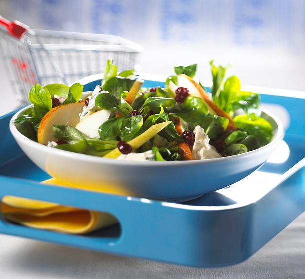 Herbstlicher Salatteller Rezept