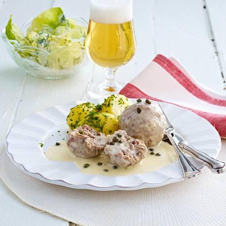 Heringsklopse in Schmandsoße zu Kopfsalat (Usedom) Rezept