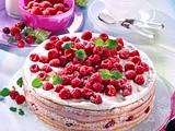 Himbeer-Biskuit-Torte Rezept